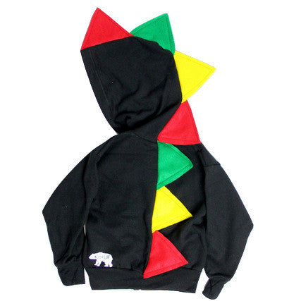 Toddler Dinosaur Hoodie - Rastasaurus - Wolfe and Scamp
