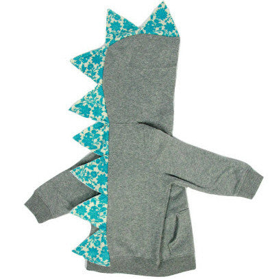 Baby/Toddler/Kids Girl Floral Dinosaur Hoodie - Floralsaurus - Wolfe and Scamp