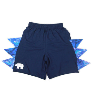 #024 - RTS Blue Geode Shorts With Pockets -  XS (4/5) | S (6/7)
