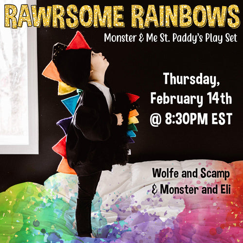 Rawrsome Rainbows Monster and Me Set - St Paddy's Monster and Eli Collaboration