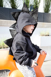 Black Glitter Dinosaur Hoodie - Kids Black Dragon Costume - Wolfe and Scamp