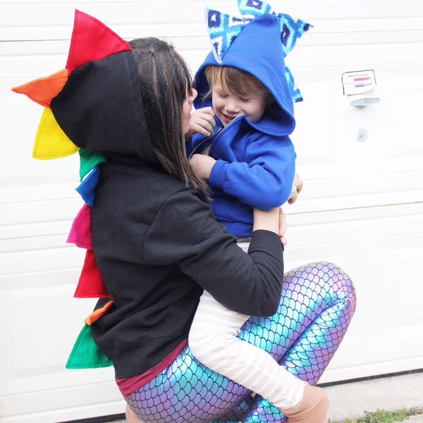 Custom Adult Dinosaur Hoodie - Build Your Own Adult Dino Hoodie - Wolfe and Scamp