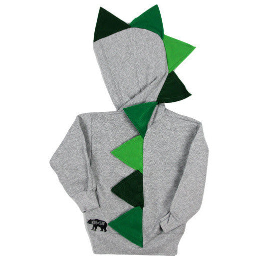 Green Baby Toddler Dino Hoodie -- Green Ombre-saurus
