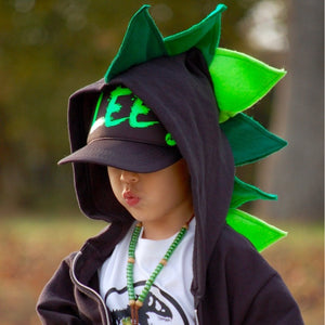close-up-boy-green-spike-hoodie-handmade-fashion