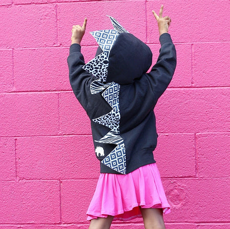 *NEW* Baby/Toddler/Kids Black Dragon Hoodie with Tail - Magical Mermaid Dragon