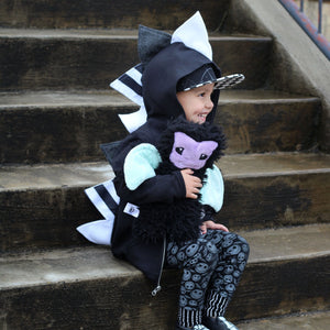 black and white fashion hoodie for toddlers