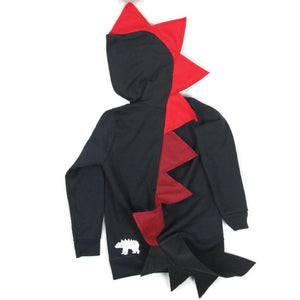 red ombre fire dragon kids costume handmade for toddlers