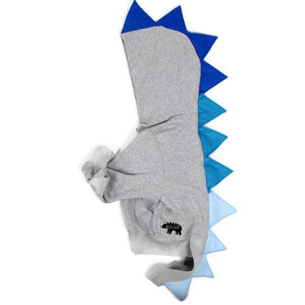 Baby/Toddler/Kids Dragon Hoodie With Tail - Sapphire Dragon - Wolfe and Scamp