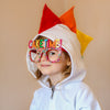 Baby/Toddler/Kids White Dragon Hoodie with Tail - Rainbow Birthday Dragon - Wolfe and Scamp
