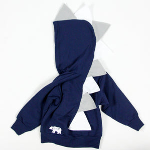Baby Toddler Kids Blue Dinosaur Hoodie - Cowboys Police Air Force Style Spikes