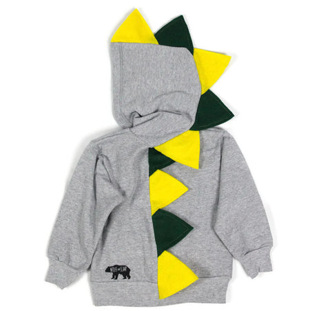 Black and White Unisex Fashion Kids Dino Hoodie - Monochrome Madness