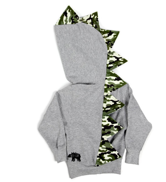 Baby Toddler Kids Dinosaur Hoodie - Classic Camo - Wolfe and Scamp