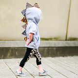 Kids Dinosaur Hoodie With Cheetah, Zebra and Tiger Spikes - Wild Child Dino