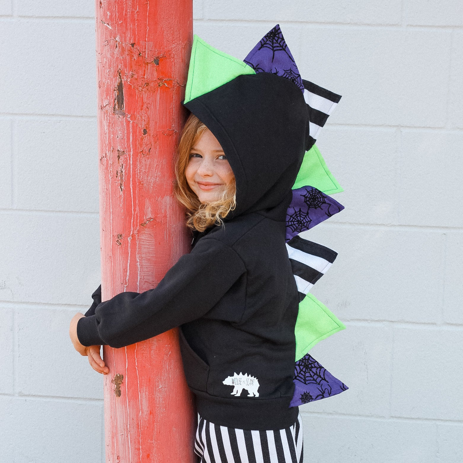 Limited Edition Beetlejuice Costume Hoodie W Spider Sparkle Spikes Wolfe And Scamp