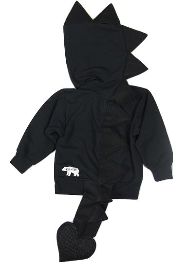 Baby/Toddler/Kids Black Dragon Hoodie With Tail