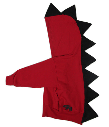 Baby Toddler Kids Red Dinosaur Hoodie -- Fireball - Wolfe and Scamp