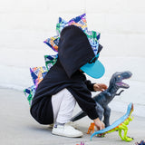 Baby/Toddler/Kids Black Rainbow Dinosaur Spike Hoodie - Unicorn Farts - Wolfe and Scamp