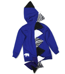 handmade blue dragon hoodie for babies toddlers and kids