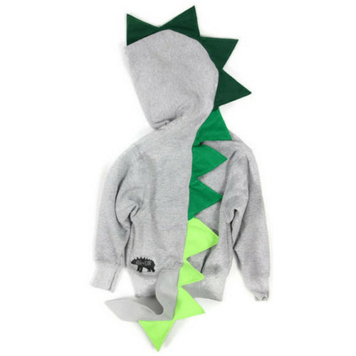 Baby/Toddler/Kids Dragon Hoodie With Tail - Green Ombre Dragon - Wolfe and Scamp