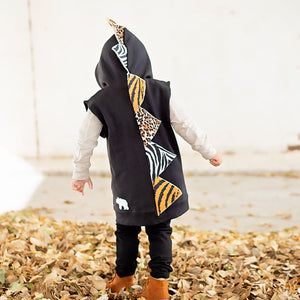 animal print sweatshirt for dinosauring loving toddlers