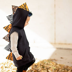 fashion dinosaur hoodie for kids handmade
