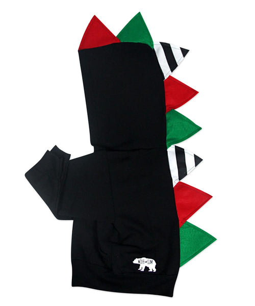 *LIMITED EDITION* Baby/Toddler/Kids Christmas Gift Dino Hoodie -- Black Christmas - Wolfe and Scamp