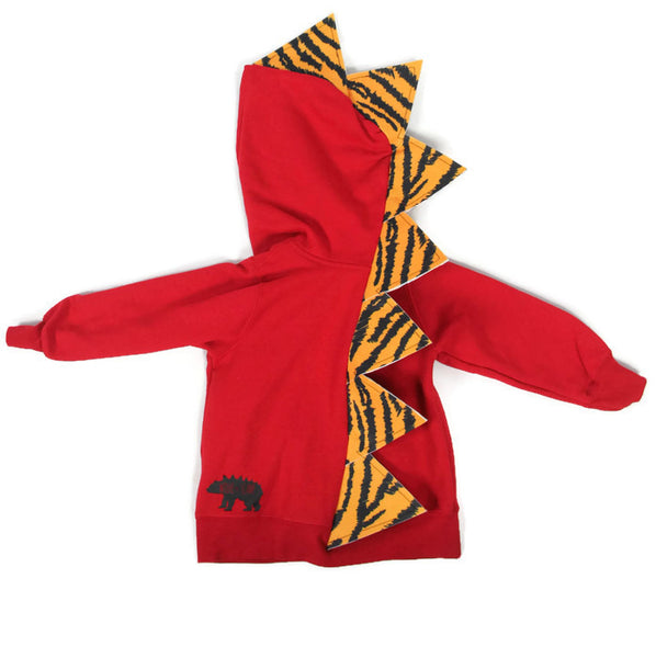 Baby Toddler Kids Red Dinosaur Hoodie -- Daniel Tigersaurus -- Wolfe and Scamp