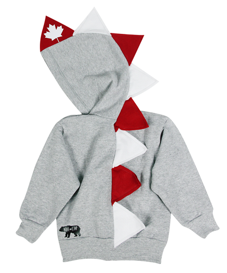 Baby Toddler Kids Red Dinosaur Hoodie -- Daniel Tigersaurus
