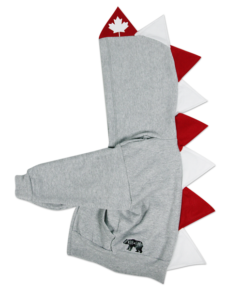 Canada Day Baby Toddler Kids Dino Hoodie --- Oh Canada - Wolfe and Scamp