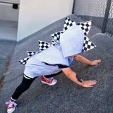 Skater Toddler Dino Hoodie - Checkerboard Skateboard Motocross