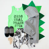 Green Baby Toddler Dino Hoodie -- Green Ombre-saurus - Wolfe and Scamp