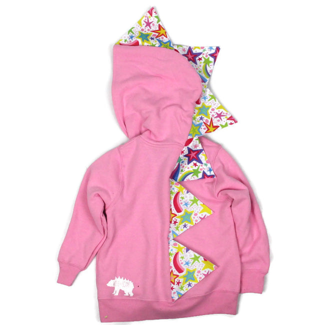 *NEW* Baby Toddler Pink Dinosaur Hoodie - Twinkle Twinkle Little Rawr - Star Dust Spikes