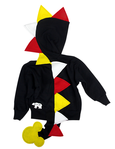 Z_Retired_Baby/Toddler/Kids Mickey Hoodie - Black Dragon Costume - Wolfe and Scamp