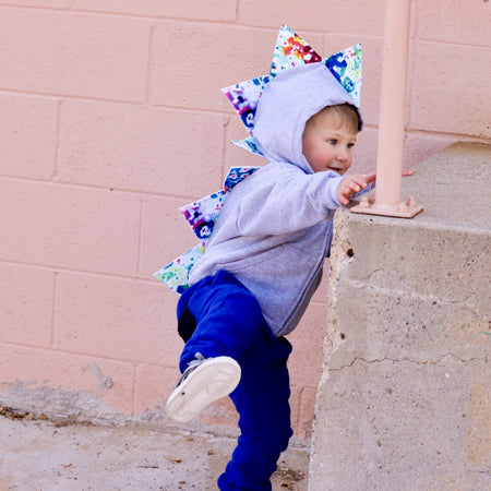 Vicki's Virtual Baby Shower Limited Drop Dino Hoodie -  Vicki's Splatterpaint a-saurus