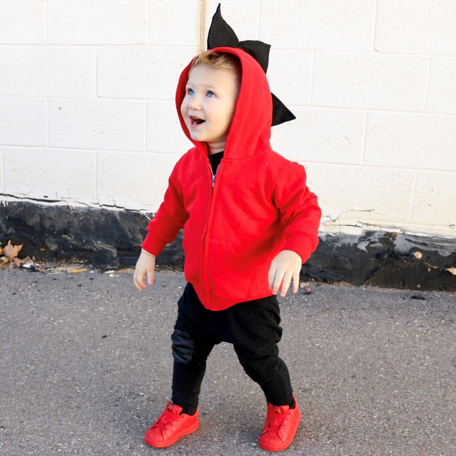 Baby Toddler Kids Red Dragon Hoodie -- Fireball