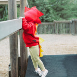 Baby/Toddler/Kids Red Dragon Hoodie With Tail - Fire Dragon - Wolfe and Scamp