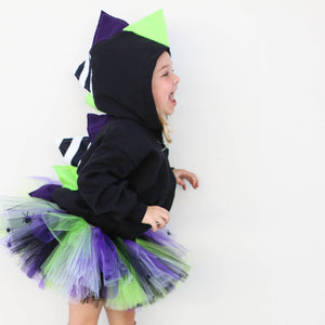 Beetlejuice Halloween Dinosaur Hoodie for Babies, Toddlers and Kids - Honeyskull Collab - Wolfe and Scamp
