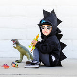 Baby Toddler Kids Black Dinosaur Hoodie Kids Dress Up -- Scorched - Dino Style - Wolfe and Scamp