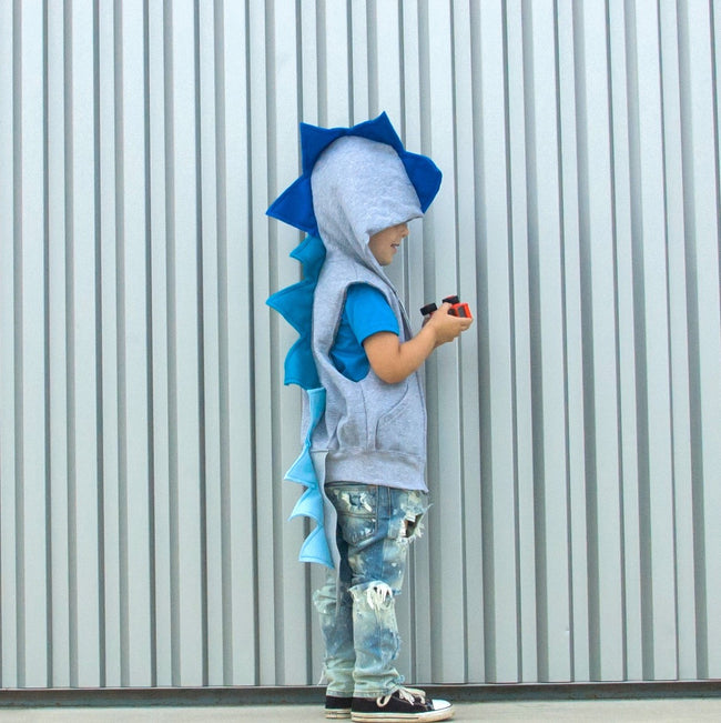 Baby/Toddler/Kids Dragon Hoodie With Tail - Blue Ombre Dragon - Wolfe and Scamp