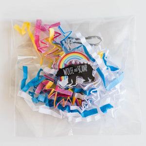 #067 - RTS Dinosaur Zipper Pulls and Backpack Charms - Rainbows are Rawrsome Bear