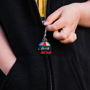 Dinosaur Zipper Pulls and Backpack Charms - Spring Showers Bear