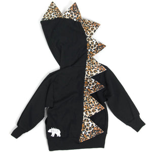 Kids Leopard Dinosaur Hoodie - Cheetahsaurus - Wolfe and Scamp