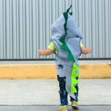 Baby/Toddler/Kids Dragon Hoodie With Tail - Emerald Dragon - Wolfe and Scamp