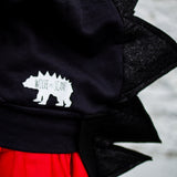 Baby/Toddler/Kids Glitter Black Dragon Hoodie with Tail - Toothless Night Fury - Wolfe and Scamp
