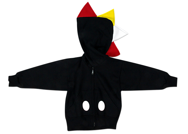 Baby/Toddler/Kids Mickey Hoodie - Black Dinosaur