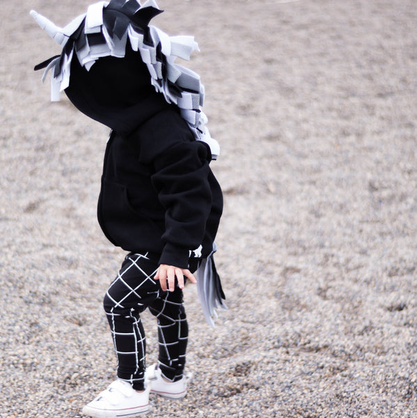 Toddler Monochrome Unicorn Hoodie