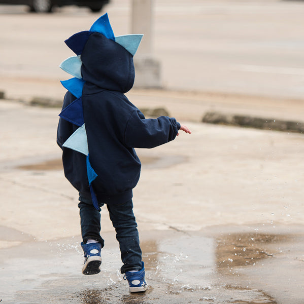 *NEW* Navy Blue Ombre Dino Hoodie - Navy Blue Ombre-saurus
