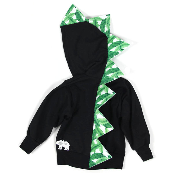 Baby Toddler Kids Summer Spikes Dinosaur Hoodie - Palms - Wolfe and Scamp