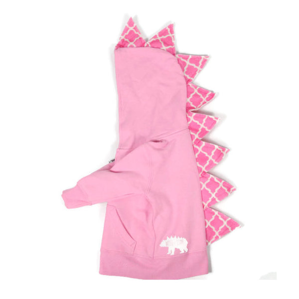 Baby Toddler Kids Pink Dinosaur Hoodie - Pinkalicious Spikes - Wolfe and Scamp