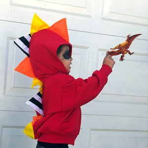 superhero kid with pterodactyl